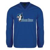V Neck Royal Raglan Windshirt-Blue Jays