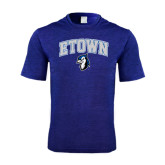 Performance Royal Heather Contender Tee-ETOWN with Mascot