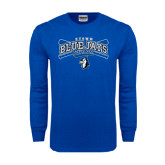 Royal Long Sleeve T Shirt-Crossed Bats Baseball