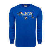 Royal Long Sleeve T Shirt-Belt and Shoes Wrestling