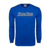 Royal Long Sleeve T Shirt-Blue Jays Wordmark