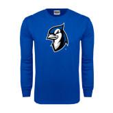 Royal Long Sleeve T Shirt-Blue Jays Mascot