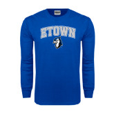 Royal Long Sleeve T Shirt-ETOWN with Mascot