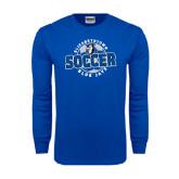 Royal Long Sleeve T Shirt-Soccer Circle