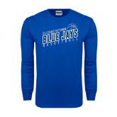 Royal Long Sleeve T Shirt-Slanted Basketball