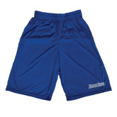 Performance Royal 9 Inch Short w/Pockets-Blue Jays Wordmark