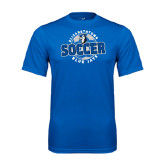 Performance Royal Tee-Soccer Circle