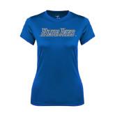 Ladies Syntrel Performance Royal Tee-Blue Jays Wordmark