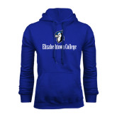 Royal Fleece Hoodie-Elizabethtown College with Blue Jays Mascot