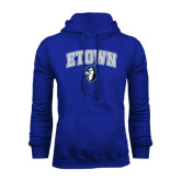 Royal Fleece Hoodie-ETOWN with Mascot