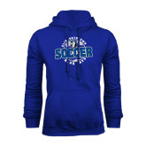 Royal Fleece Hoodie-Soccer Circle