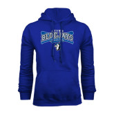 Royal Fleece Hoodie-Crossed Bats Baseball