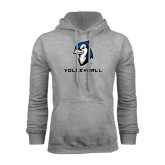 Grey Fleece Hoodie-Volleyball