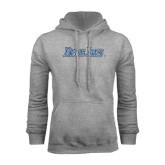 Grey Fleece Hoodie-Blue Jays Wordmark