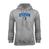 Grey Fleece Hoodie-ETOWN with Mascot