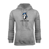 Grey Fleece Hood-Lacrosse