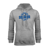 Grey Fleece Hoodie-Soccer Circle