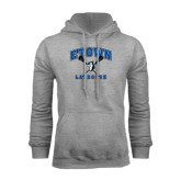Grey Fleece Hoodie-Crossed Sticks Lacrosse