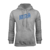 Grey Fleece Hoodie-Slanted Basketball