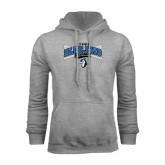 Grey Fleece Hoodie-Crossed Bats Baseball