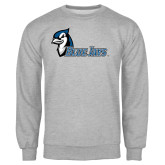 Grey Fleece Crew-Blue Jays