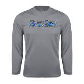 Syntrel Performance Steel Longsleeve Shirt-Blue Jays Wordmark