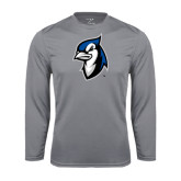 Performance Steel Longsleeve Shirt-Blue Jays Mascot