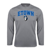 Performance Steel Longsleeve Shirt-ETOWN with Mascot