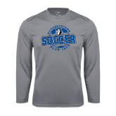 Performance Steel Longsleeve Shirt-Soccer Circle