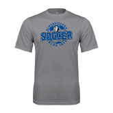 Performance Grey Concrete Tee-Soccer Circle
