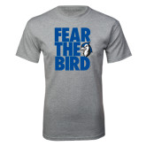 Grey T Shirt-Fear the Bird