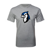 Grey T Shirt-Blue Jays Mascot
