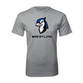 Grey T Shirt-Wrestling