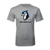 Grey T Shirt-Swimming