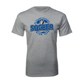 Grey T Shirt-Soccer Circle