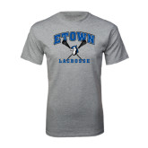 Grey T Shirt-Crossed Sticks Lacrosse