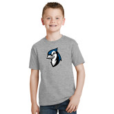 Youth Grey T-Shirt-Blue Jays Mascot