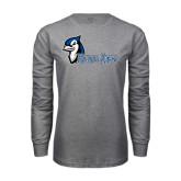 Grey Long Sleeve T Shirt-Blue Jays