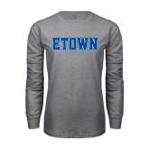 Grey Long Sleeve T Shirt-Etown