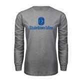 Grey Long Sleeve T Shirt-Elizabethtown College