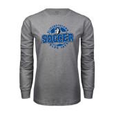Grey Long Sleeve T Shirt-Soccer Circle