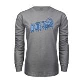 Grey Long Sleeve T Shirt-Slanted Basketball