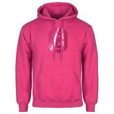Fuchsia Fleece Hood-Official Logo Foil