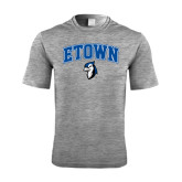 Performance Grey Heather Contender Tee-ETOWN with Mascot