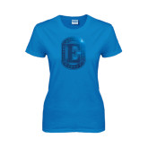 Ladies Sapphire T Shirt-Official Logo Foil