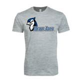 Next Level SoftStyle Heather Grey T Shirt-Blue Jays