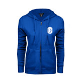 ENZA Ladies Royal Fleece Full Zip Hoodie-Official Logo