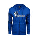 ENZA Ladies Royal Fleece Full Zip Hoodie-Blue Jays