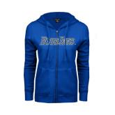 ENZA Ladies Royal Fleece Full Zip Hoodie-Blue Jays Wordmark