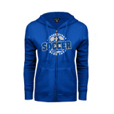 ENZA Ladies Royal Fleece Full Zip Hoodie-Soccer Circle